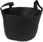 Fair Trade Original - Mand zeegras zwart nylon handles D40