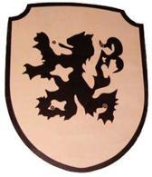 Houten schild Hollandse Leeuw