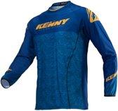 Kenny Crossshirt Titanium Gold/Heather Blue-L