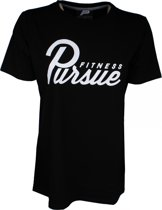 Bodybuilding T-Shirt Mannen Classic Fitted Zwart - Pursue Fitness