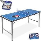 relaxdays tafeltennisset 3-delig - tafeltennisbatjes - tafeltennistafel - net - scorebord