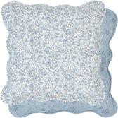 Q151.020 - Kussenhoes - 40 x 40 cm - katoen - blauw
