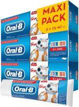 Oral-B Junior Star Wars Tandpasta 3x75 ml, 6+ Jaar