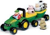 Muzikale tractor met aanhanger en dieren Britains -