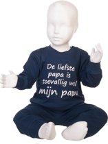 Fun2Wear Pyjama De liefste papa is toevallig wel mijn papa navy maat 98