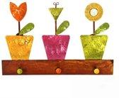 Fair Trade kapstok bloemen in potjes vorm thema cadeaus Bloemen