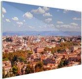 Uitzicht op Rome Glas 30x20 cm - klein - Foto print op Glas (Plexiglas wanddecoratie)