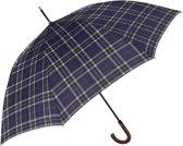 Perletti Paraplu Schotse Ruit 95 X 120 Cm Microfiber Blauw