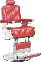 vidaXL Kappersstoel 68x69x116 cm kunstleer rood