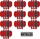 Dragon darts - 10 Sets (30 stuks) - Ruthless - sterke flights - Rood - darts flights