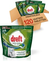 Dreft All in One Original - Kwartaalbox 120 stuks - Vaatwastabletten
