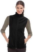 Fleece bodywarmer zwart voor dames S (36)