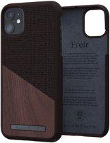 Nordic Elements Frejr back cover voor Apple iPhone 11 - Bruin / walnoot