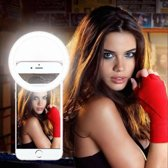 Memo Stijl Selfie Ring Flash Light voor Smartphone Frontcam Wit