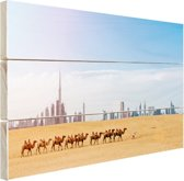 Dubai landschap Hout 80x60 cm - Foto print op Hout (Wanddecoratie)