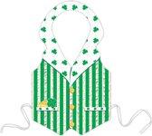 Groene plastic Leprechaun schort voor Saint-Patrick - Verkleedattribuut