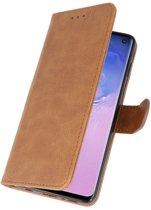 Samsung Galaxy S10  Hoesje Book Case Bruin
