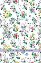 Monthly Calendar 2019 - 2020: Floral Pattern Cover - 18 Month Planner / Diary / Agenda from 2019 to 2020 (only months spread pages for SIMPLY TRACKI