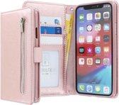 iPhone 11 Bookcase hoesje - CaseBoutique - Effen Rose goud - Kunstleer - Met Rits Vakje Muntvakje