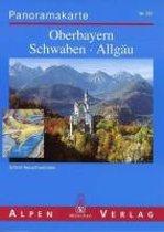 Oberbayern - Schwaben - Allgäu Panoramakarte