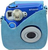 Polaroid 300 Instant Camera Leather Case Blue