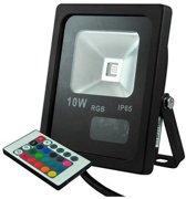 10W - RGB Schijnwerper - LED - IP65 Outdoor - Dimbaar - Remote - Zwart - HQ