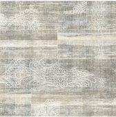 Vintage hout/medaillon beige behang (vliesbehang, beige)