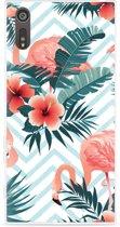Sony Xperia XZ Hoesje Flamingo Flowers