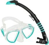 Aqua Lung Sport Duetto Midi LX + Zephyr Flex LX - Snorkelset - Volwassenen - Turquoise