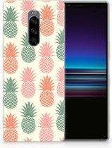 Sony Xperia 1 TPU Hoesje Design Ananas