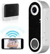 Video deurbel - Draadloos - Met deurbelgong - Camera via wifi - Intercom + nachtmodus - Bewegingssensor met ring functie - App voor IOS en Android - Inclusief lithium batterij - Deurbelset - Slimme deurbel - Doorsafe