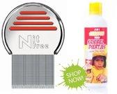 Kriebeldiertjes 2 in 1 hoofdluis shampoo + Luizenkam