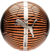 PUMA Puma One Chrome ball Voetbal - Red Blast-Puma Black-Silver