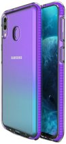 Teleplus Samsung Galaxy A40 Ultra Protection Colorful Edge Silicone Case Purple + Nano Screen Protector