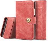 Mobigear Retro Detachable Magnetic Wallet Hoesje Rood Apple iPhone 11 Pro