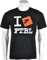 Nike Love Football Men's T - Sportshirt -  Heren - Maat S - Zwart;Oranje;Wit