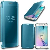 Clear View Cover voor Samsung Galaxy S6 Edge Plus – Blauw