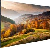 Rhodopean landschap Aluminium 180x120 cm - Foto print op Aluminium (metaal wanddecoratie) XXL / Groot formaat!