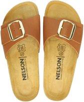 Nelson dames slipper - Cognac - Maat 42
