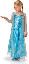 Disney Frozen Elsa Jurk - Kostuum Kind - Maat 104/110 - Carnavalskleding