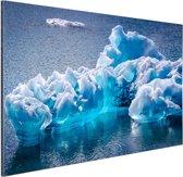 FotoCadeau.nl - Gletsjerijs foto Aluminium 120x80 cm - Foto print op Aluminium (metaal wanddecoratie)