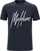 Malelions T-shirt Signature Navy/White