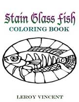 Stain Glass Fish Coloring Book