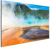 FotoCadeau.nl - Yellowstone Nationaal Park Amerika Aluminium 90x60 cm - Foto print op Aluminium (metaal wanddecoratie)