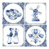 Servetten Delfts blauw inhoud 60 stuks - Oud Hollandse tafel versiering