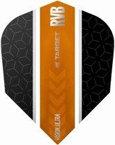 Target Ultra Raymond van Barneveld No6. Stripe Black Orange  Set à 3 stuks