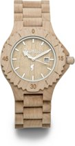 Burnwoods Muze Maple - Houten Horloge - Hout - Dameshorloge - Beige