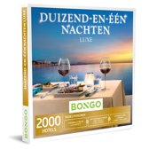 Bongo Bon Nederland - Duizend-en-één Nachten Luxe Cadeaubon - Cadeaukaart cadeau voor koppels | 2000 luxueuze hotels