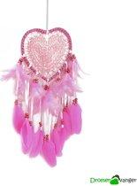 Dromenvanger Roze met kant - Loving Heart Lace Roze