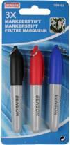 Markeerstiften - Markeerstift - Bezinestift - Permanent - Markers - 3 stuks - Rood - Zwart - Blauw
